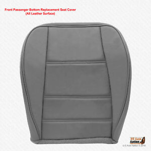 2002 2003 2004 Ford Mustang V6 Coupe Passenger Bottom Leather Seat Cover Gray