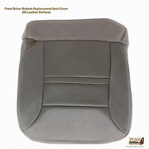 00 Ford Excursion Limited 2wd 7 3l Diesel Driver Bottom Leather Seat Cover Gray