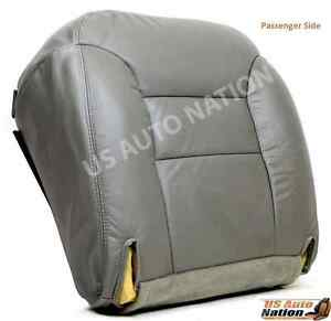 1996 1997 98 1999 Chevy Tahoe Suburban Leather Seat Cover Gray Passenger Bottom