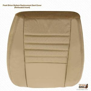 99 04 Ford Mustang Gt V8 Convertible driver Side Bottom Leather Seat Cover Tan