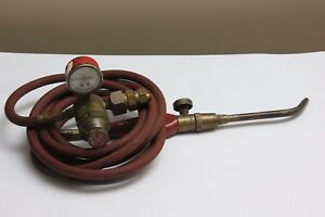 Goss Acetylene Torch Hose Regulator Solder Brazing Set Untested