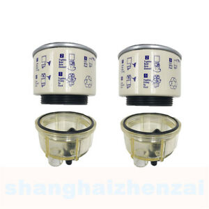2x Fuel Filter Water Separator Spin On R12t 120a Replacement Element For Racor