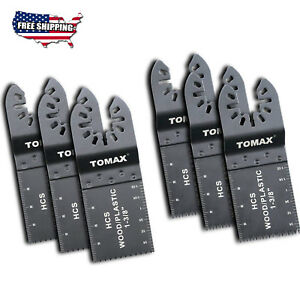 6 Wood Oscillating Multi Tool Saw Blades Fit Fein Bosch Milwaukee Porter New