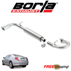 Borla S type Axle back Performance Single Exhaust 2011 2016 Scion Tc 2 5l 4 Cyl