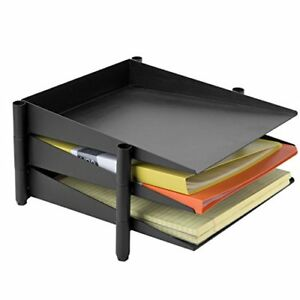 Mygift Set Of 3 Stackable Metal Document Tray Office Desktop Organizer Matte