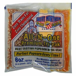 Great Northern Popcorn 6 Oz Popcorn Portion Packs Kit Case Of 24