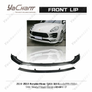 Carbon Splitter For 14 18 Porsche Macan Turbo Ats Bla Style Front Lip