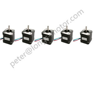 Us Free Ship 5pcs Nema 17 Stepper Motor 55ncm 78oz in Bipolar 1m Cable W connec