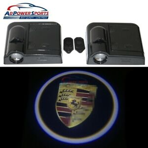 Pair Wireless Step Door Courtesy Welcome Shadow Projector Led Lights For Porsche
