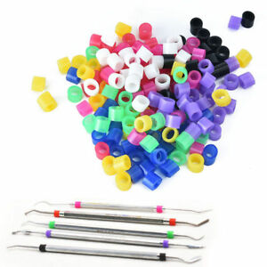 100 Pcs box Small Dental Orthodontic Silicone Instrument Color Code Rings Bands
