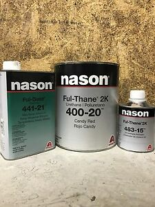Nason Fulthane 400 20 Candy Red Single Stage Paint Kit