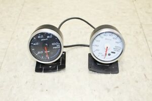 Defi Dual Gauge Set Water Temp Oil Pressure Gauges 60mm