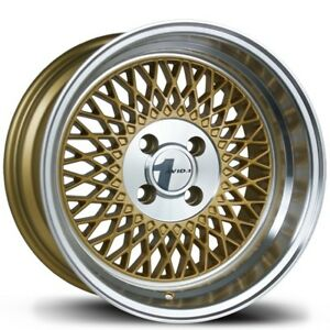 Avid1 Av18 15x8 25 4x100 Gold W Machined Lip set Of 4