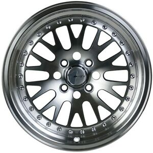 Avid1 Av12 16x8 25 4x100 4x114 3 Silver Civic Integra Fit Crx Miata Yaris