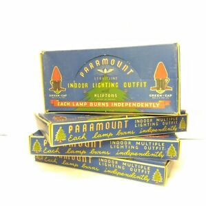 Tested Vintage Lot Of Paramout Christmas String Lights Bulbs Original Boxes