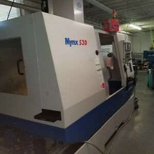 Used Daewoo Mynx 530 Cnc Vertical Machining Center Mill Fanuc Ct40 Box Way 2001