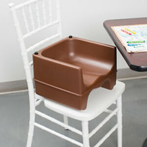 Brown Dual Height Plastic Nsf Stackable Restaurant Booster Seat