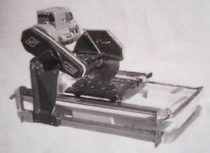 Mk Diamond Mk 101 Wet Tile Saw Model 151991 With Stand