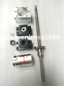 2 Set Antibacklashed Rm2510 2900mm Ballscrew Bf20 bk20 14 17 Mm Couplering