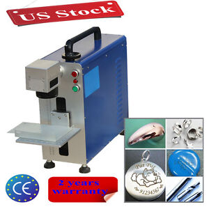 Upgrade Portable 20w Fiber Laser Marking And Engraving Machine With Ratory Axis