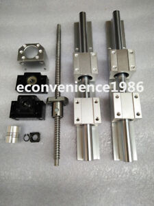 2setsbr20 1000mm Linear Rail rm2010 1000mm Anti backlashed Ballscrew bf15 bk15