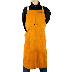 Lincoln Electric Brown One Size Flame resistant Leather Welding Apron