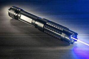 450nm Powerful Wby6 a 2 Blue Laser Pointer Adjustable Lazer Pen Burn Paper