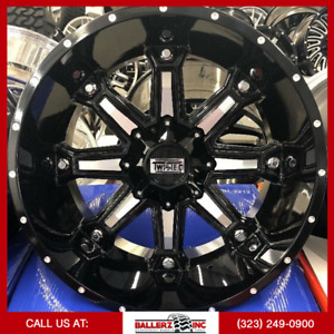 22x12 Offroad Twisted On 33 12 50r22 Black Milled Wheels With Off Road Tires