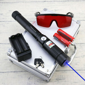 Thor High Power 450nm Blue Laser Pointer Burning Cigarette Light Visible Beam
