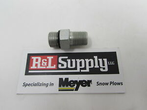 Fisher Snow Plow 1 4 Npt To 9 16 O Ring Adapter 3058 1306465