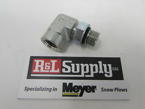 Fisher Snow Plow 9 16 O Ring To 1 4 Npt Pipe Thread 90 Degree Elbow 20316k