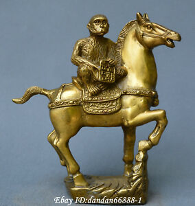 Collect Chinese Fengshui Old Bronze Horse Monkey Quickpromotion Wealth Statue