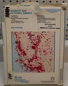 Seismicity Map Of North America The Geological Society Of America