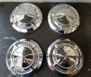 Pontiac Dog Dish Hubcaps Set Of 4 pre owned