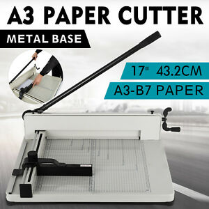 New Heavy Duty Guillotine Paper Cutter 17 Commercial Metal base A3 Trimmer