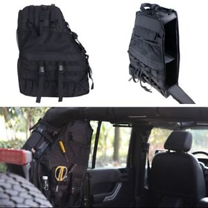 Roll Bar Storage Cargo Bag Cage Trunk Accessories For Jeep Wrangler 4 door 07 18