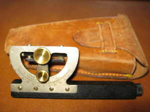 Vintage Diepo Inclinometer Hand Survey Level Dietzgen Abney Style With Case