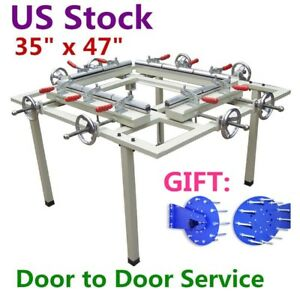 Us Stock High Precise 35 x47 Manual Screen Stretching Machine Screen Stretcher