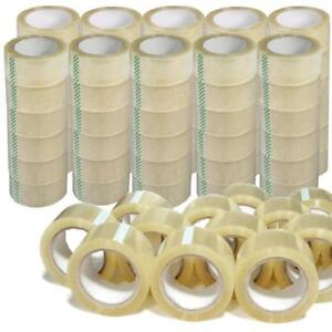 72 Rolls 2 x110 Yards 330 Ft Box Carton Sealing Packing Package Tape Clear