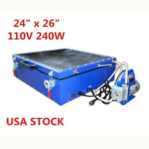 24 X 26 Precise Silk Screen Printing Vacuum Exposure Unit Compressor Usa