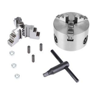 New 3 jaw Self centering Lathe Chuck With Extra Jaws Machine Accessories K11 80
