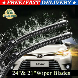 24 21 Inch One Pair Windshield Wiper Blades Bracketless J Hook Oem Quality