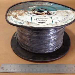 Est 9 950 Ft General Cable C2003a 12 01 24 Awg Black Solid Hook Up Wire 300v