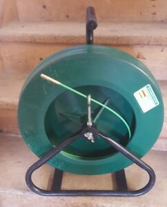 Greenlee Fish Tape 542 250 Fiberglass 250 Ft Cable Wire Puller W stand Fishtape