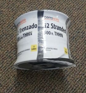 12 Awg Black Stranded Copper Wire Thhn thwn 500 Ft Roll