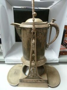 Antique Rogers Smith Co Quadruple Plate Silver Tilting Water Pitcher