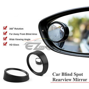Pair 2 Universal Side Mirror Blind Spot Convex Wide Angle Mirrors Usa Seller