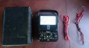Simpson 260 Series 5 Vom Multimeter W Leather Case And A Test Lead And A Probe