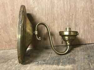 Vintage Antique Brass Gold Oval Wall Sconce Light Lamp Fixture Restore