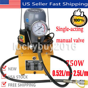 10000psi Electric Driven Hydraulic Pump Single Acting Remote Controlled 110v